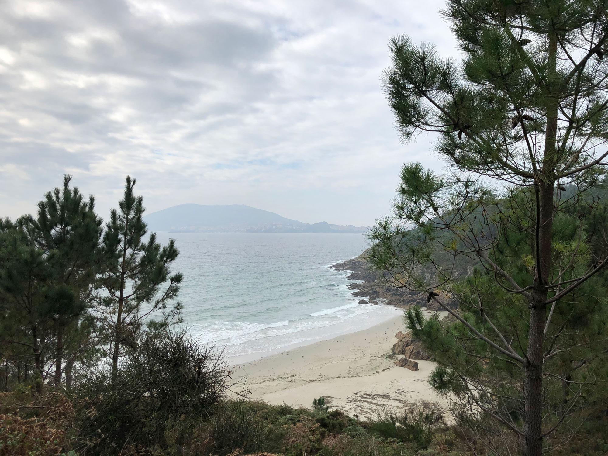 Bucht auf dem Weg nach Fisterra auf dem Camino Finesterre